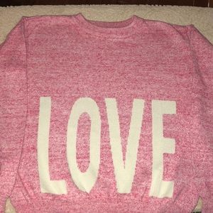 Girls Gap LOVE Sweater